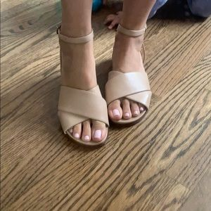 Shoes - Leather flat sandals - New!